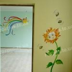 Розпис стін в садочках. Дитяча кімната. Мультики.