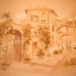 Декор стін . Вулички Італії. Ліпнина настінна. Барельєф. Монохром.