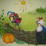 Українська казка на стінах дитячого садка. Лисичка та півник.